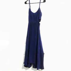 Reformation Dress Dark Blue Dress With Cutouts XS